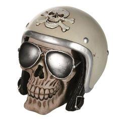 Tirelire tête de mort - Skull Hell Rider