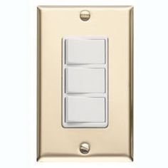 Broan 65W 3-Function Control Polished Brass White Switches 20 amp 120V Bath fan control by Broan-NuTone. $24.66. Broan 65 Three-Function Control with Brass Finish Metal Wall Plate Three Independent, 120V, 15 Amp Rocker Switches (20 Amp Total). Fits Single-Gang Opening. Blister Packs Available (P65W, P65V, P66W, P66V, P67W, P67V). For All Broan Heaters and Fans Within Amp Ratings.. Save 34%!