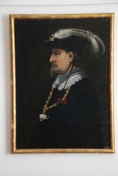 Portrait of King Christian 4.  Seen at Ulriksholm Slot