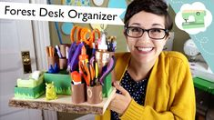 Forest Desk Organizer Tutorial