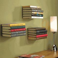 decor, book shelf, float bookshelv, bookshelf idea, organ, book shelv, shelves, fun bookshelf, invis bookshelf