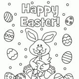 Free Happy Easter Coloring Page