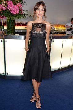 Best Dressed - Alexa Chung in a Dior black dress