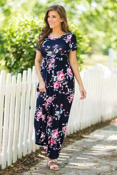 Follow Your Lead Maxi Dress, Navy - The Mint Julep Boutique
