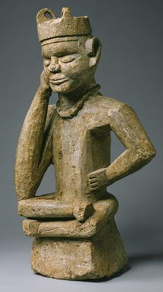 Seated Figure (Tumba) - Date: century - Geography: Angola or Democratic Republic of the Congo, Gamboma village - Culture: Kongo peoples - Medium: Steatite Stone Sculpture, Sculpture Art, Statues, Cultural Crafts, African Artwork, African Sculptures, Grand Palais, African Masks, Tribal Art