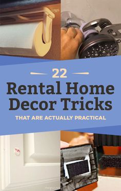"""22 Home Hacks That'll Make Renters Say """"Why Didn't I Know About This Sooner?"""" Home Project for renters 22 Home Hacks That'll Make Renters Say """"Why Didn't I Know About This Sooner? Rental Home Decor, Rental Decorating, Decorating Tips, Diy Home Decor For Apartments Renting, Home Decor Hacks, Decorating Small Apartments, Rental Homes, Tiny Apartments, Renting A House"""