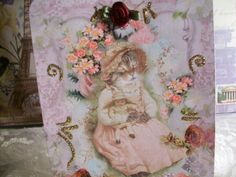 Mama Cat and Baby Doll  PC 21   Set of 4  by smtiffanylane on Etsy, $5.00