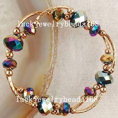 Risultati immagini per pulseras cristal Wire Wrapped Jewelry, Wire Jewelry, Jewelry Crafts, Beaded Jewelry, Jewelery, Silver Jewellery, Gemstone Bracelets, Handmade Bracelets, Jewelry Bracelets