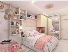 Teen Girl Bedrooms - From do it yourself to fun teenage girl room tricks. Desperate for other brilliant teen room styling ideas why not press the pin image to wade through the pin suggestion 5081872888 this instant Room Design, Bedroom Design, Bedroom Diy, Stylish Bedroom, Stylish Bedroom Design, Simple Bedroom, Small Rooms, Girl Bedroom Decor, Dream Rooms