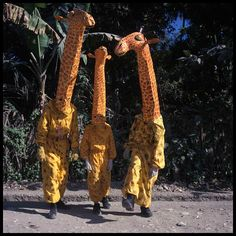 Phyllis Galembo   Giraffes, Jacmel, Haiti, 1998.