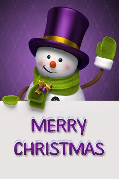 Merry Christmas - Snowman - in Purple and Lime Green - Purple Santa Suit Purple Christmas, Merry Christmas And Happy New Year, Christmas Pictures, Christmas Colors, Christmas Snowman, All Things Christmas, Christmas Holidays, Christmas Tables, Coastal Christmas