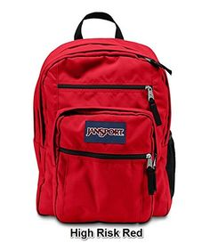 Amazon.com  JanSport Big Student Solid Colors Backpack B1025  High Risk  Red  Sports   Outdoors d97b2770fdacc