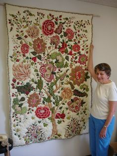 Floral quilt. Hmmmmm.....always wondered what to do with those very large prints!