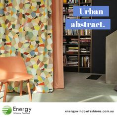 Interior Curtains with Colourful Abstract Print - Energy Window Fashions
