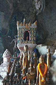 Pak Ou cave, Mekong, Laos