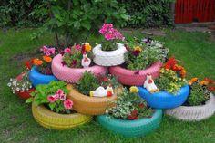 É cada vez mais comum a incorporação de objetos reciclados ou reaproveitados na decoração.   Por isso hoje vamos falar do pneu. O pneu p...