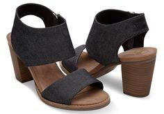 1dd689e895d Black Denim Women s Majorca Cutout Sandals
