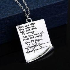 Beautiful Grey's Anatomy Post-It Wedding Necklace