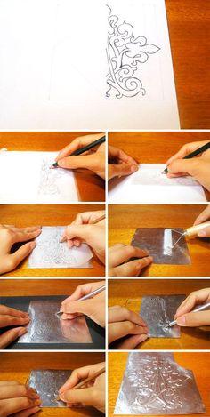 ¿Cómo usar pátina en una pieza de repujado en aluminio?