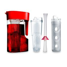 Keep drinks cold, brew iced tea and more. The Primula Flavor Now Beverage System allows you to easily brew, infuse, and chill your favorite beverages. Crafted of durable Tritan™ acrylic, the pitcher is designed to fit inside most refrigerator doors.