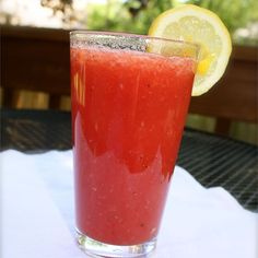 """Watermelon and Strawberry Lemonade I """"Wonderfully refreshing after my morning hike, didn't use sugar at all, put about a tablespoon of honey instead."""""""