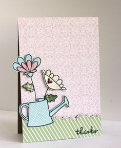 card by SPARKS DT Alice Wertz PS stamp sets: Green Thumb, Friendly Flowers, and Daisies & Paisleys