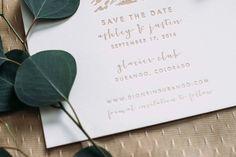 Custom Letterpress Save the Date