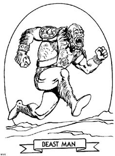Beast Man coloring page