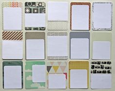 Make your own Project Life cards with your favorite paper!