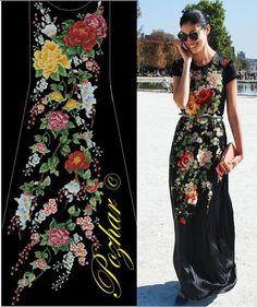 Gallery.ru / Фото #14 - Авторские схеммы для вышивки на одежде - maila86