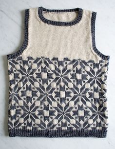 Whits Knits: Kids Fair Isle Vest - the purl bee