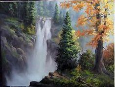 Pintura Tela a Óleo- Passo a Passo -Paint with Kevin Hill - Rushing Waterfall     Belíssima paisagem!!!