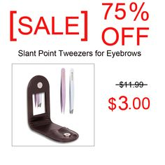 [ Big Discount - off ] Slant Point Tweezers for Eyebrows Set Ingrown Hair Removal with Mirror Leather Travel Case Ingrown Hair Serum, Ingrown Hair Removal, Skin Care Regimen, Skin Care Tips, Eyebrow Styles, Hair Scrub, Discount Online Shopping, Derma Roller, Pedicure Tools