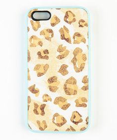 Take a look at this Brown & White Leopard Case for iPhone 4/4S by Bonnie Marcus Collection on #zulily today! $9 !!