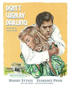 """Florence Pugh Daily on Twitter: """"Stunning concept posters for Olivia Wilde's 'Don't Worry Darling' featuring Florence Pugh and Harry Styles… """" Room Posters, Band Posters, Poster Wall, Poster Prints, Harry Styles Poster, Harry Styles Pictures, Desenho Harry Styles, One Direction Posters, Room Deco"""