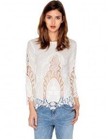 Cute Crochet Top - White Lace Top - Boho Lace Top - $62