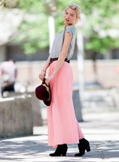 Martha Hunt pleated maxi skirt