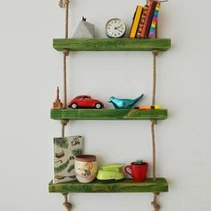 Massive Handmade Green Floating Shelves Custom Jewelry Design, Custom Design, Wood Shelves, Floating Shelves, All Wall, Raw Materials, Free Gifts, Natural Wood, Home Accessories