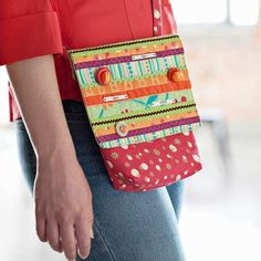 Just Bright Quilted Messenger Bag