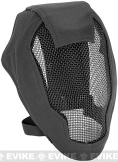 """Looks like garb already, plus is actual face protection - Matrix Iron Face Carbon Steel """"Striker"""" Gen4 Metal Mesh Full Face Mask - Black, Tac. Gear/Apparel, *Head Gear, Head - Masks (Full) - Evike.com Airsoft Superstore"""