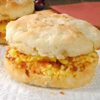 Bacon and Egg Biscuit Breakfast Sandwich