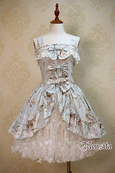 Beautiful Floral Embroidery Mousita Lolita Skirt Petticoat