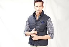 H.E. BY MANGO #FW14 #Menswear - Reversible quilted gilet
