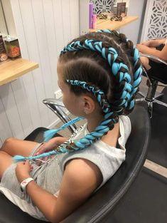 Blue cornrows/dutch braids, 4 into Festival style hair # festival Braids blue 4 into 2 dutch braids Festival Stil, Festival Braid, Box Braids Hairstyles, Cool Hairstyles, Dutch Braided Hairstyles, Twist Braids, Dutch Braids, 4 Braids Cornrows, Braids For Short Hair