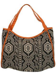 School bag... Aztec Print Shopper bag - Bags & Purses - Accessories - Miss Selfridge ($20-50) - Svpply