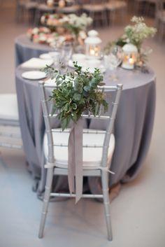 winter wedding chair decoration, photo by 3Photography http://ruffledblog.com/toronto-winter-wedding #reception #wedding