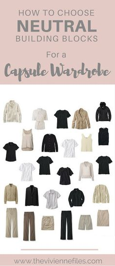 How to Choose Neutral Building Blocks for a Capsule Wardrobe