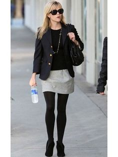 Tailored Blazer: A tailored topper — while not your best bet for the most frigid of days — will never go out of style, just ask Reese Witherspoon. Choose one in navy blue with nautical gold accents, layer it over a sweater and under a coat on colder days and pair it with your Breton striped tee come spring.