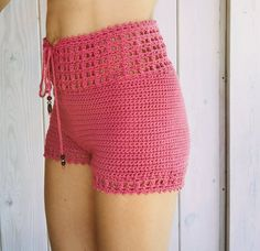 Discover thousands of images about PDF-file for Crochet PATTERN set for Leyla Crochet Top and Motif Bikini Crochet, Crochet Shorts Pattern, Crochet Pants, Crochet Skirts, Crochet Clothes, Crochet Lace, Crochet Patterns, High Waisted Shorts, Organic Cotton