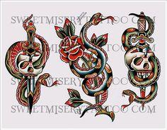 old school dagger tattoo - Google Search